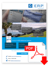 Connect Concur Expense Data to your ERP