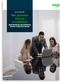 financial consolidations sage intacct